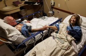 Couple doubles up to treat heart trouble at Elmhurst Hospital; Both patients treated same day for same condition