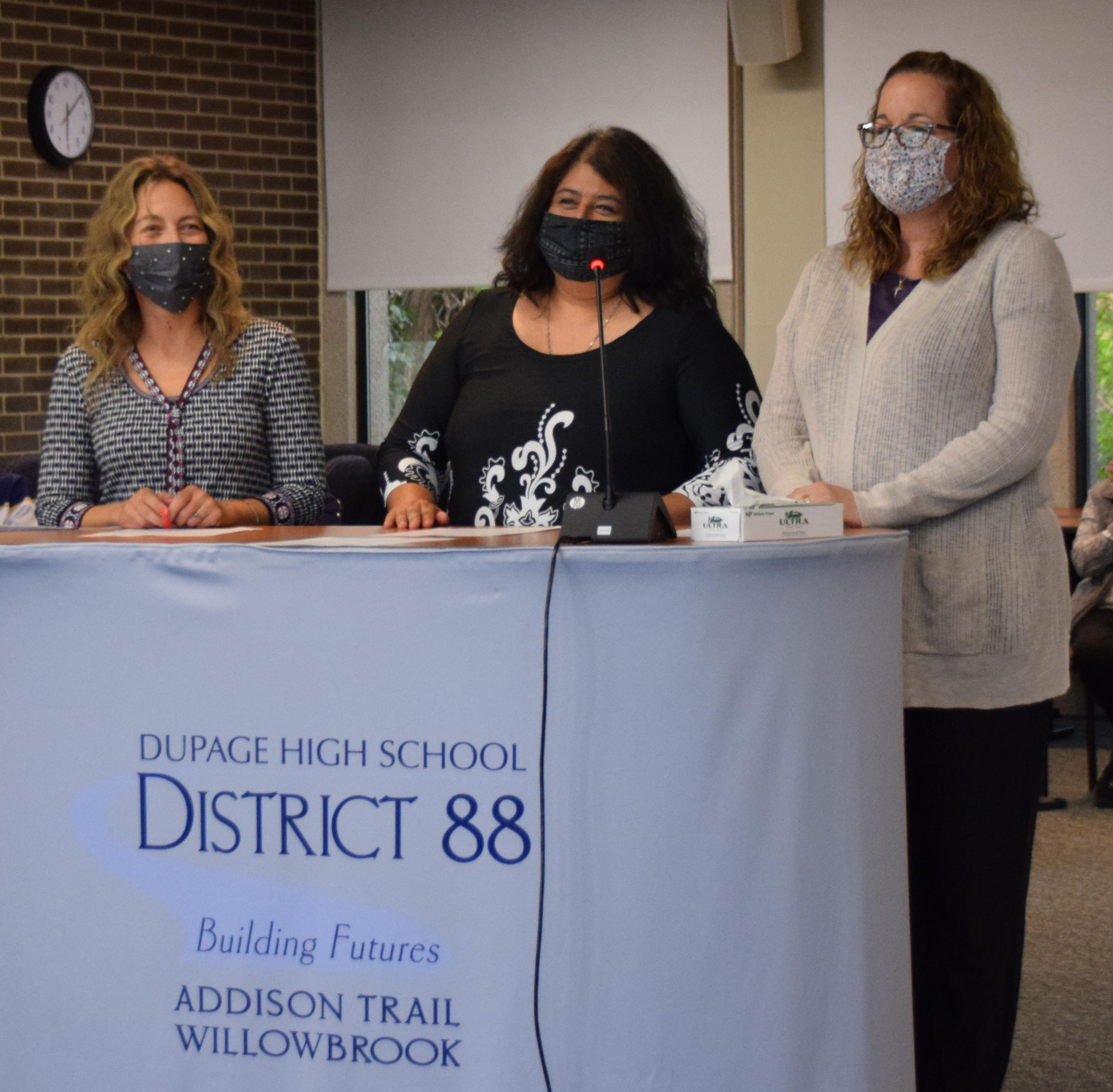 District 88 installs new Board members, elects officers