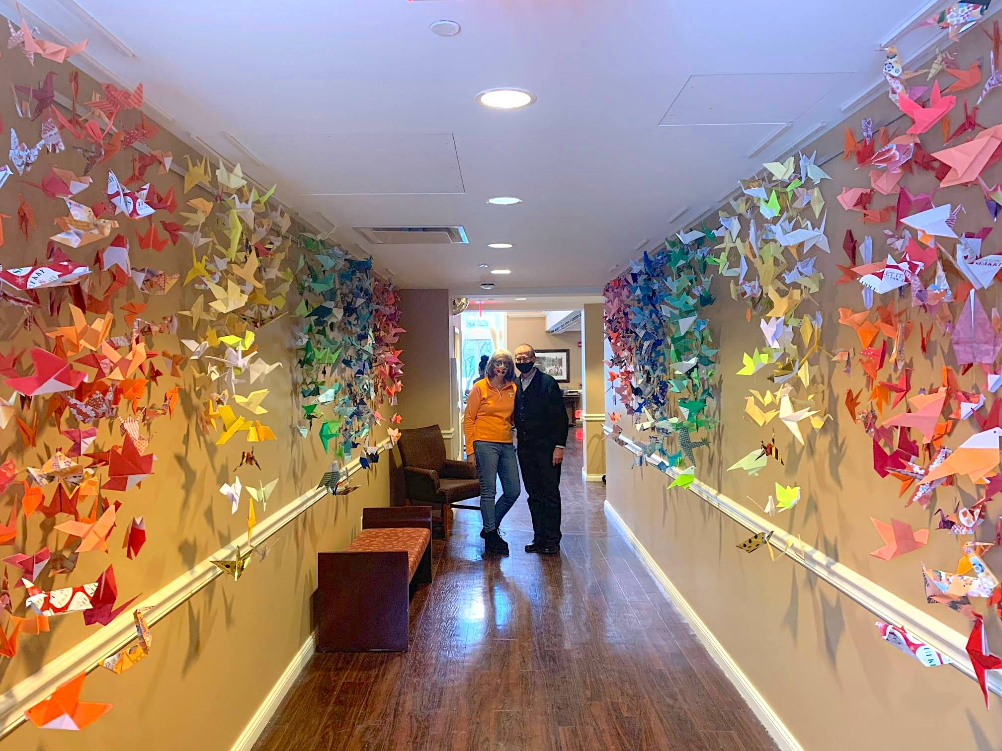Friends of Park Place bring 'Wings of Hope' to community; Origami project builds peace and strength, one bird at a time